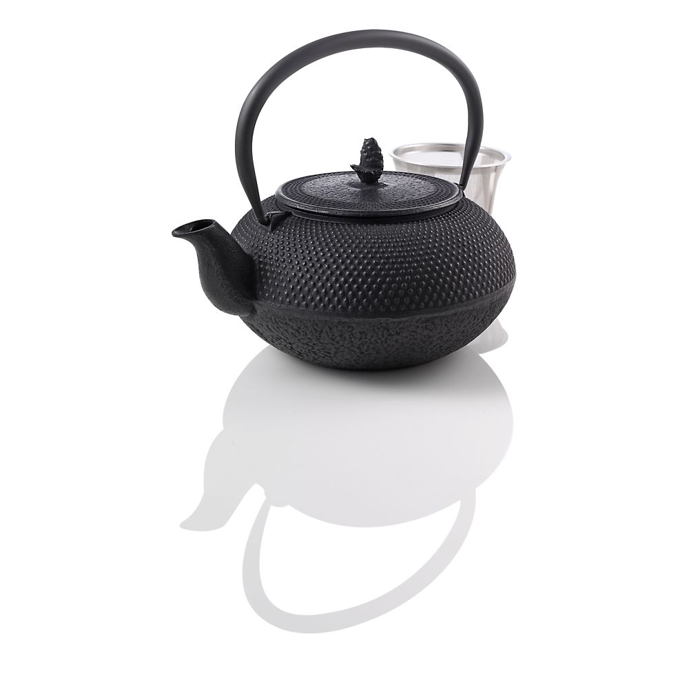 Teavana Medium Hobnail Black Cast Iron Teapot, 30oz