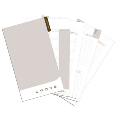 Refill for medium agendas. Comprehensive agenda inserts include calendar, notes and contact pages.