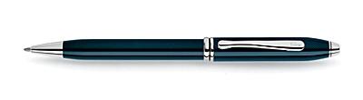 Townsend<br /><br /> Quartz Blue Lacquer Ballpoint Pen