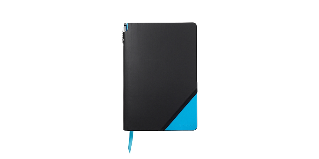 Black & Bright Blue Large Jotzone with Pen