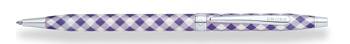 Century Colors Violet Gingham Ballpoint Pen