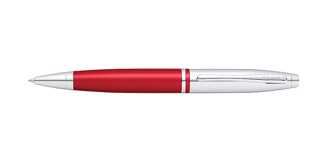 Calais Chrome and Red Ballpoint Pen