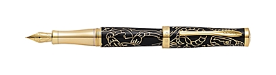 Year of the Goat Black Lacquer Fountain Pen
