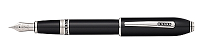 Peerless 125 Obsidian Black Lacquer Fountain Pen