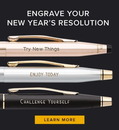 Engrave your New Year's Resolution!