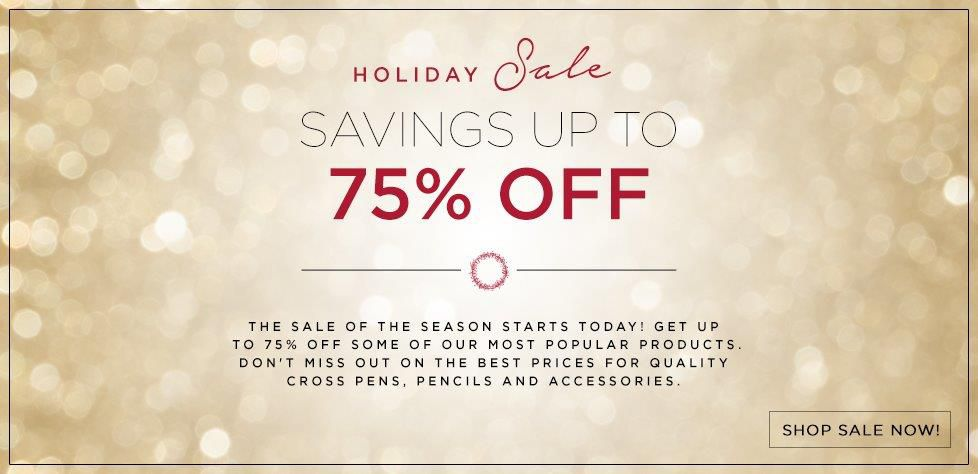 Holiday Sale - Up to 75% Off