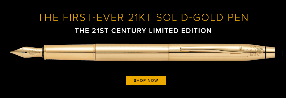 21k Solid Gold Pen with a Diamond