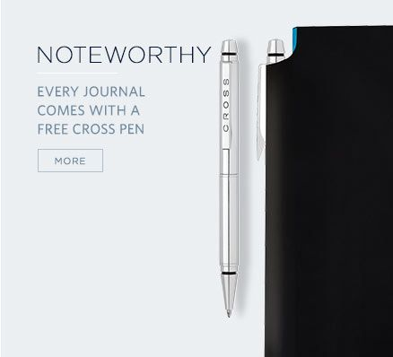 Noteworthy - Every Journal Comes With a Free Cross Pen