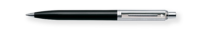 Sheaffer Sentinel Black Barrel and Brushed Chrome Cap Ballpoint Pen