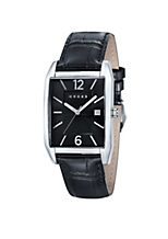 Classic Men's Designer Watch with Textured Black Dial