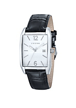 Classic Men's Designer Watch With Textured White Dial