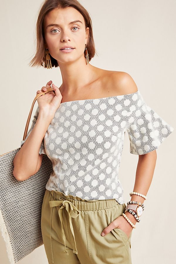 561982214e Mud Pie Eyelet Offtheshoulder Top From Virginia By Mary Barnetts ...