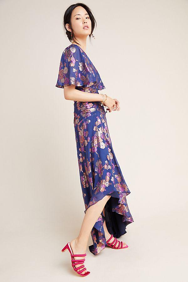 Shoshanna Metallic Maxi Dress   Anthropologie
