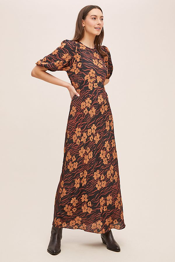 Kachel Floral Silk Maxi Dress | Anthropologie FR