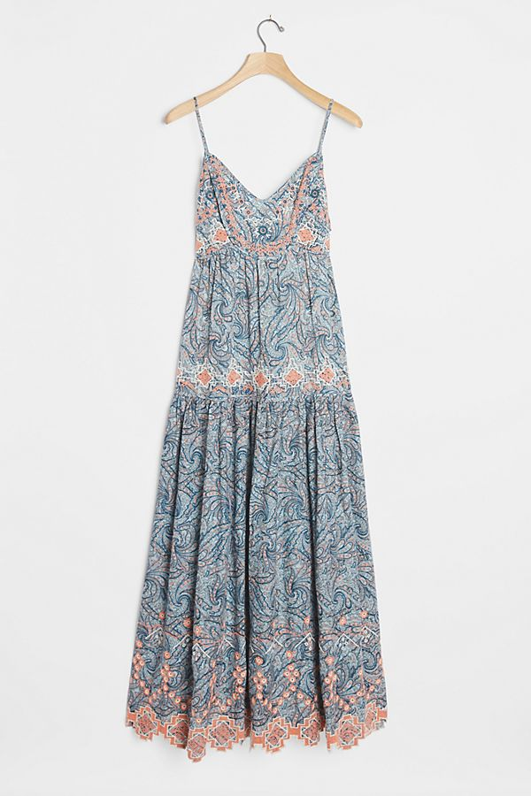 Jessa Embroidered Maxi Dress   Anthropologie FR