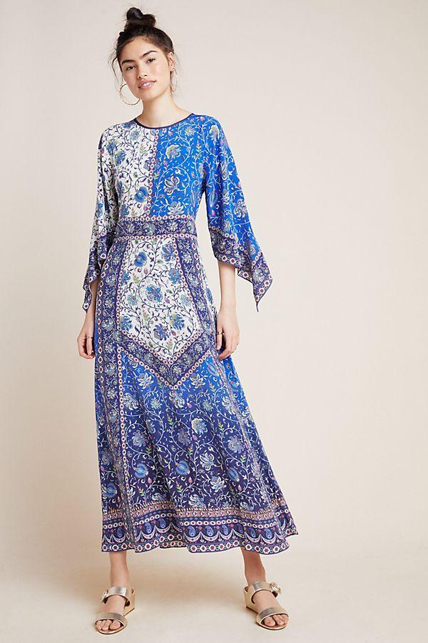 Astraea Silk Maxi Dress | Anthropologie