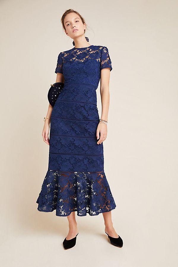 ML Monique Lhuillier Demi Lace Maxi Dress | Anthropologie