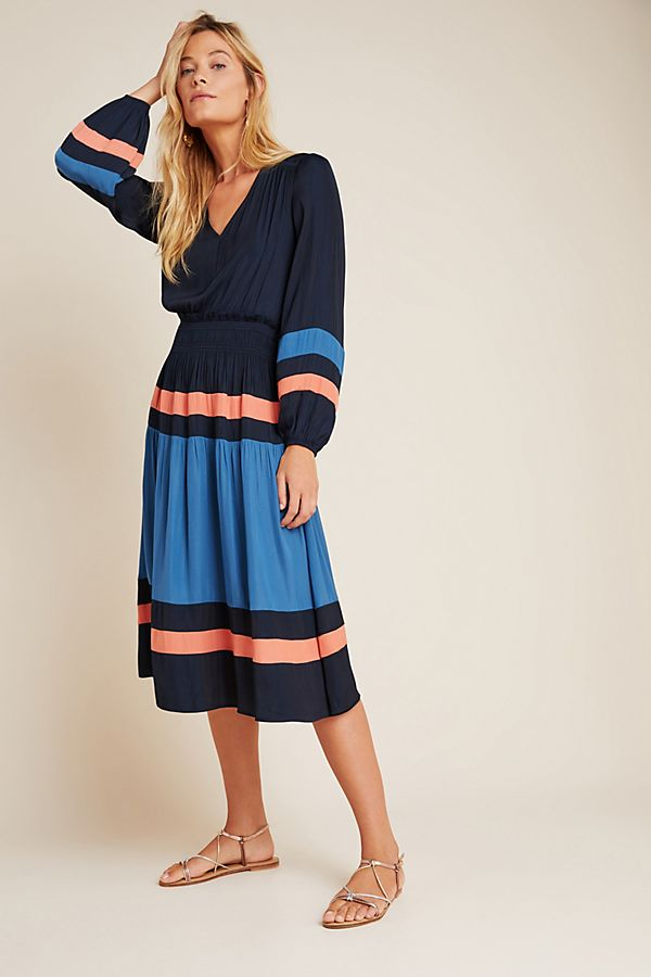 Aidy Colorblocked Midi Dress | Anthropologie