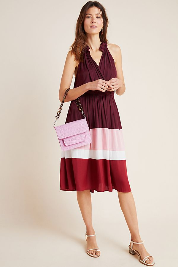 Cobie Colorblocked Midi Dress | Anthropologie