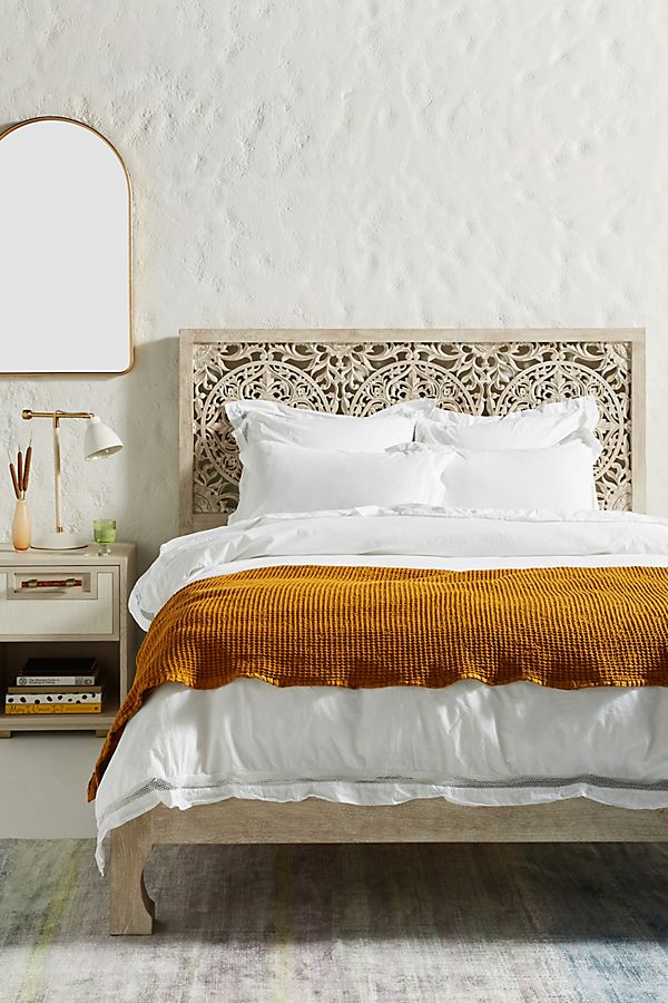 Slide View: 1: Washed Percale Clementine Duvet Cover