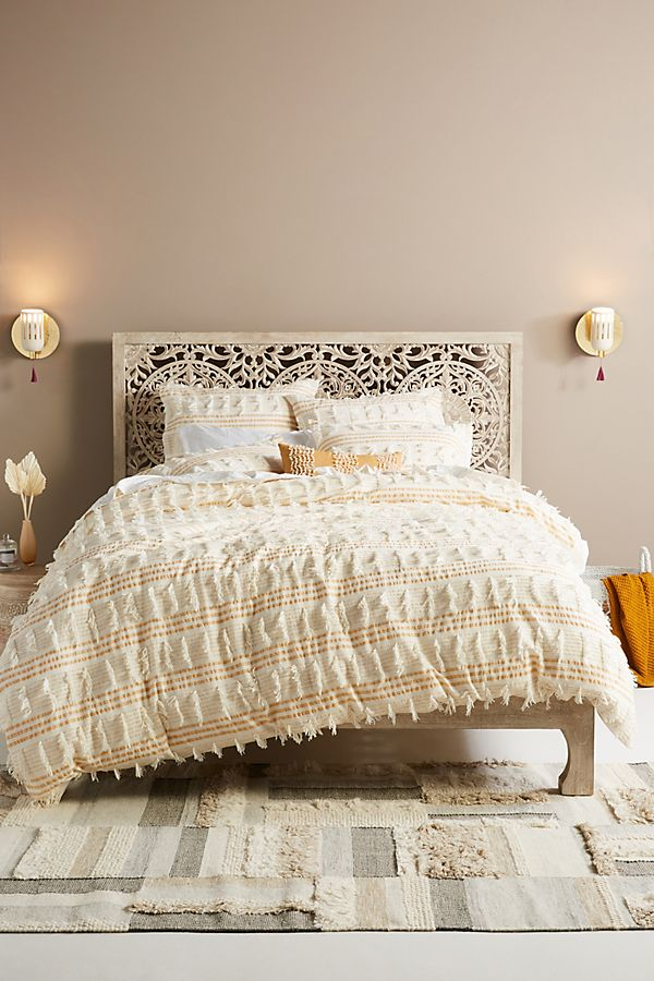Slide View: 1: Fringed Frida Duvet Cover