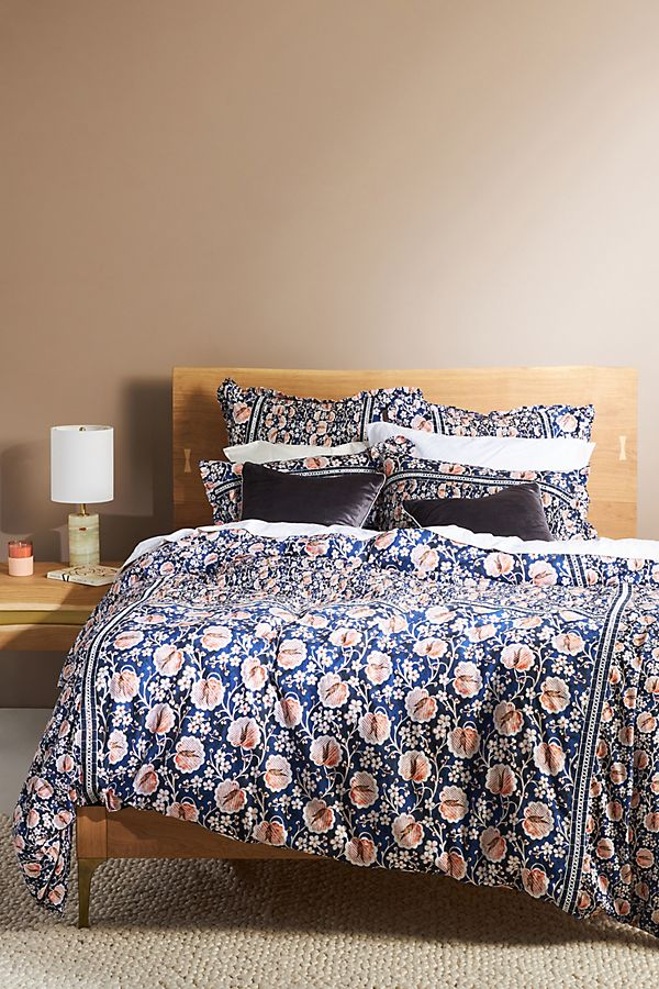 Slide View: 1: Embellished Windflower Duvet Cover