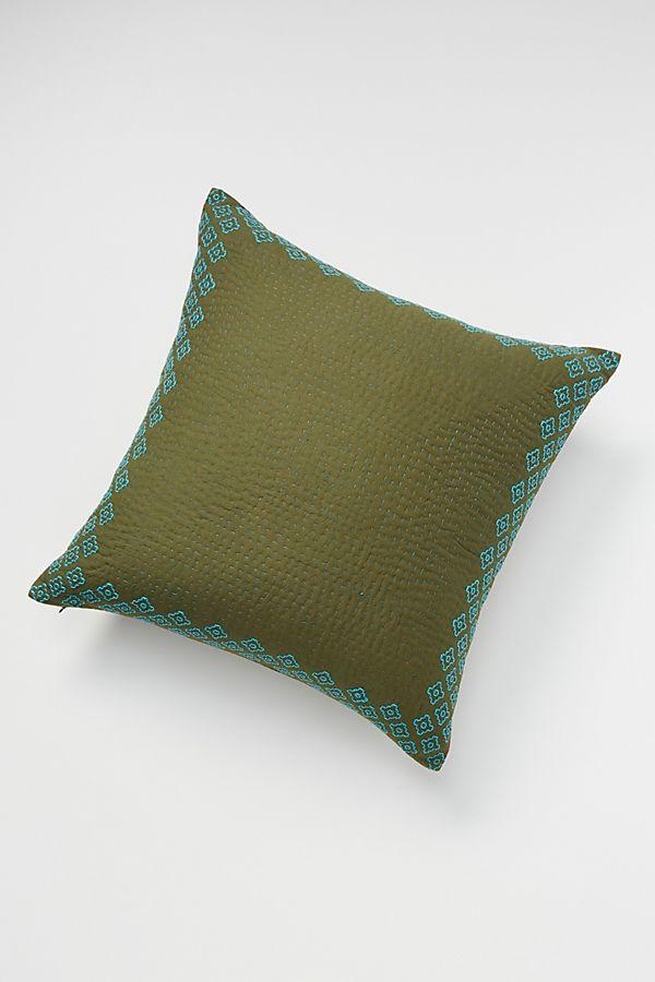 Kantha-Stitched Pillow   Anthropologie DE