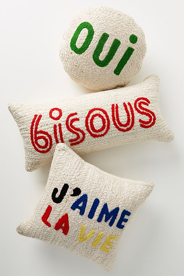 Slide View: 1: Clare V. for Anthropologie Maisonette Jute Pillow