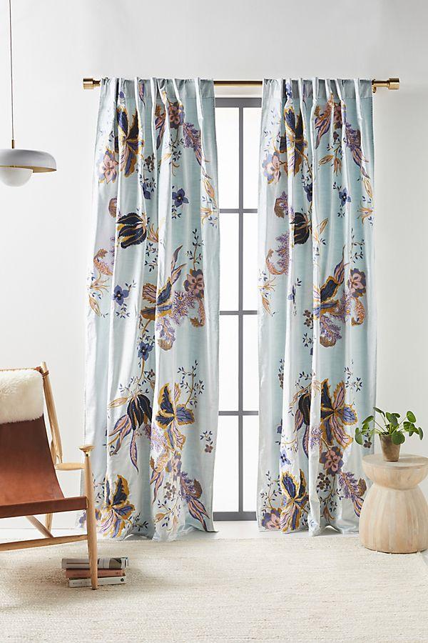 Slide View: 1: Embroidered Velvet Elan Curtain