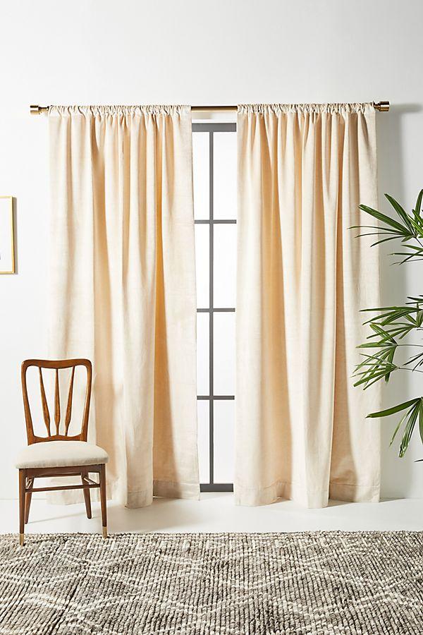 Slide View: 1: Velvet Slub Curtain