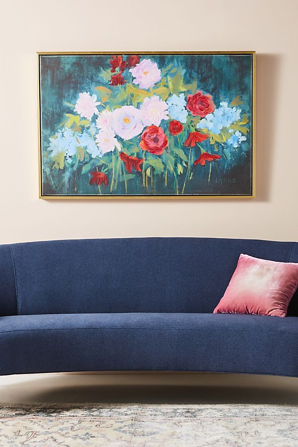 Slide View: 1: August Florals Wall Art