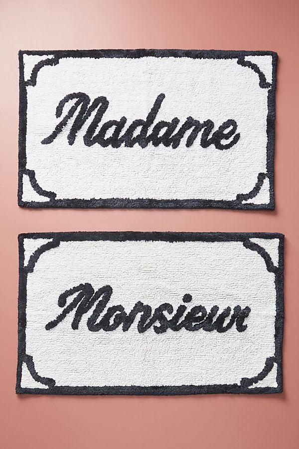 Slide View: 1: Monsieur & Madame Bath Mats, Set of 2