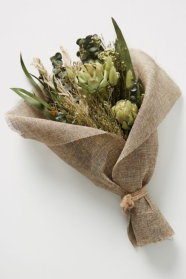 Slide View: 1: Dried Green Bouquet