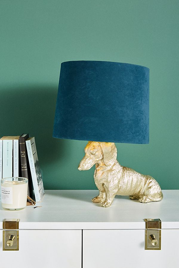 Slide View: 1: Dasher Dog Table Lamp