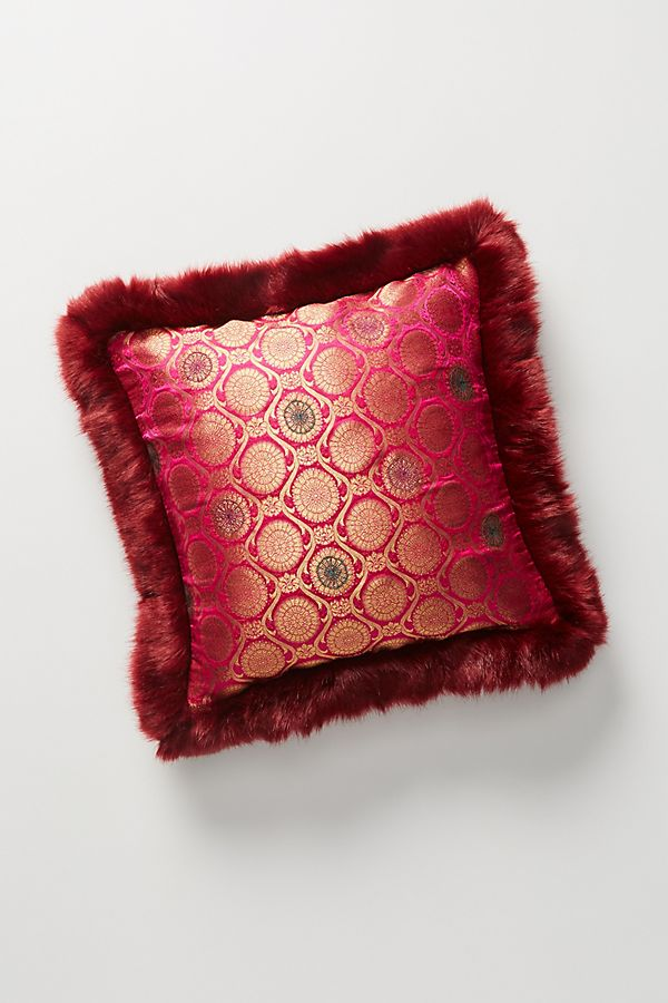 Mela Metallic Jacquard Pillow | Anthropologie