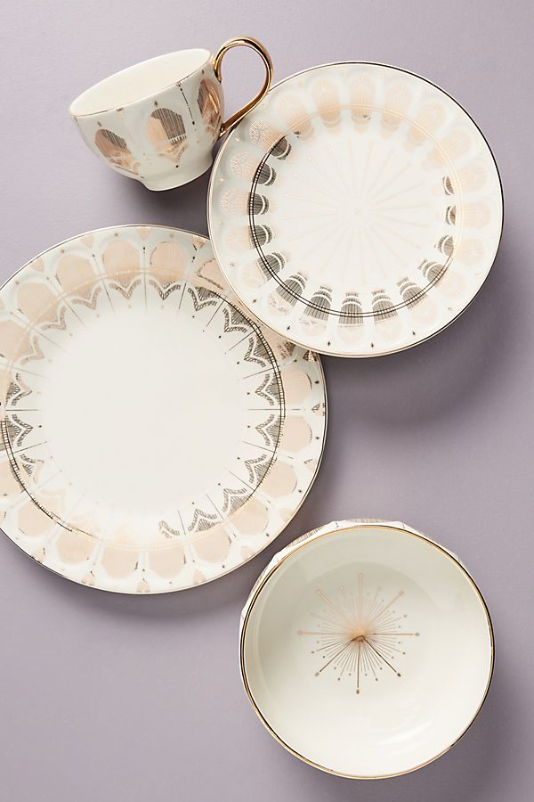 Slide View: 2: Michele Dinner Plates, Set of 4