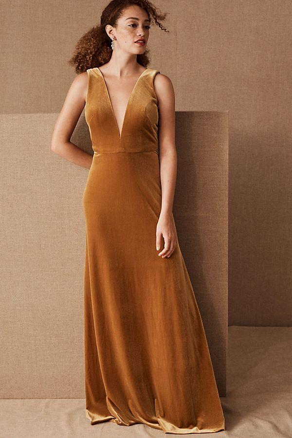 Slide View: 1: Jenny Yoo Logan Velvet Dress