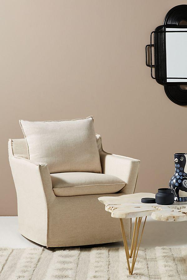 Slide View: 1: Swivel Rocker Chair