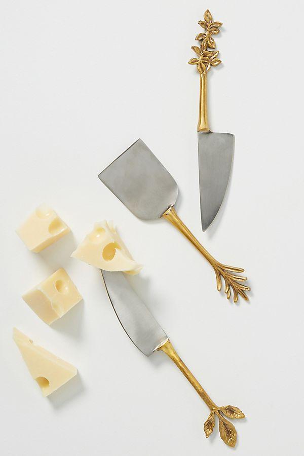Slide View: 1: Herbiflora Cheese Knives, Set of 3