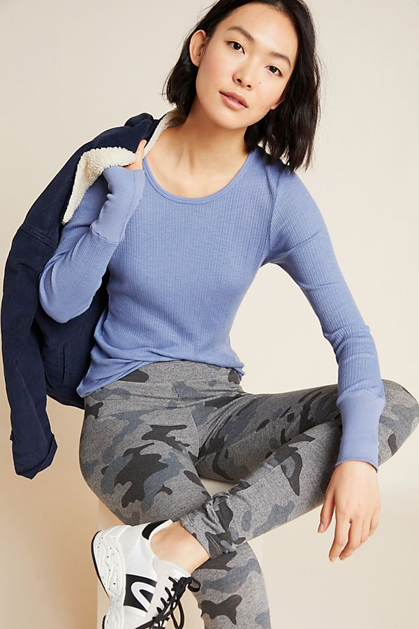 Slide View: 1: Sundry Emma Ribbed Top
