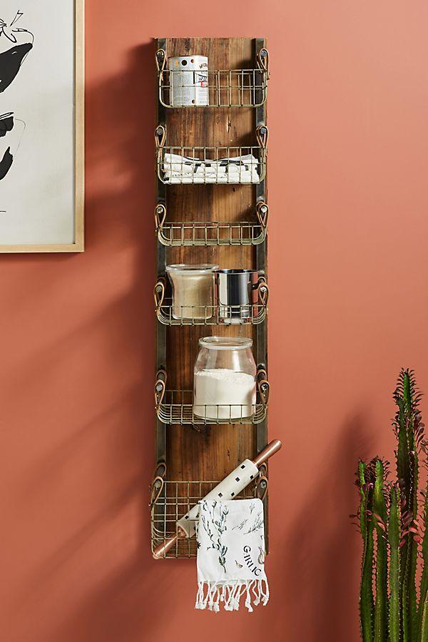 Slide View: 1: Provincial Basket Storage Rack