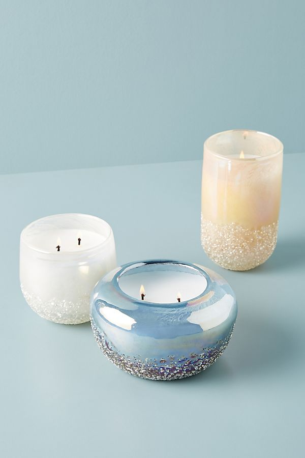 Slide View: 1: Pebble Glass Candle