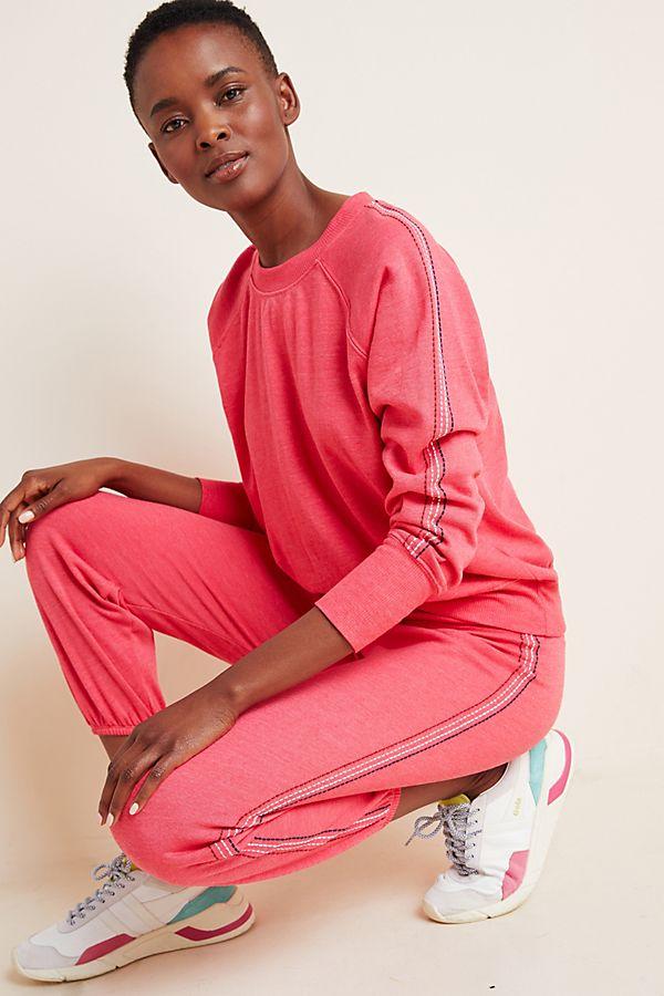 Slide View: 1: Sundry Stitched Raglan Sweatshirt