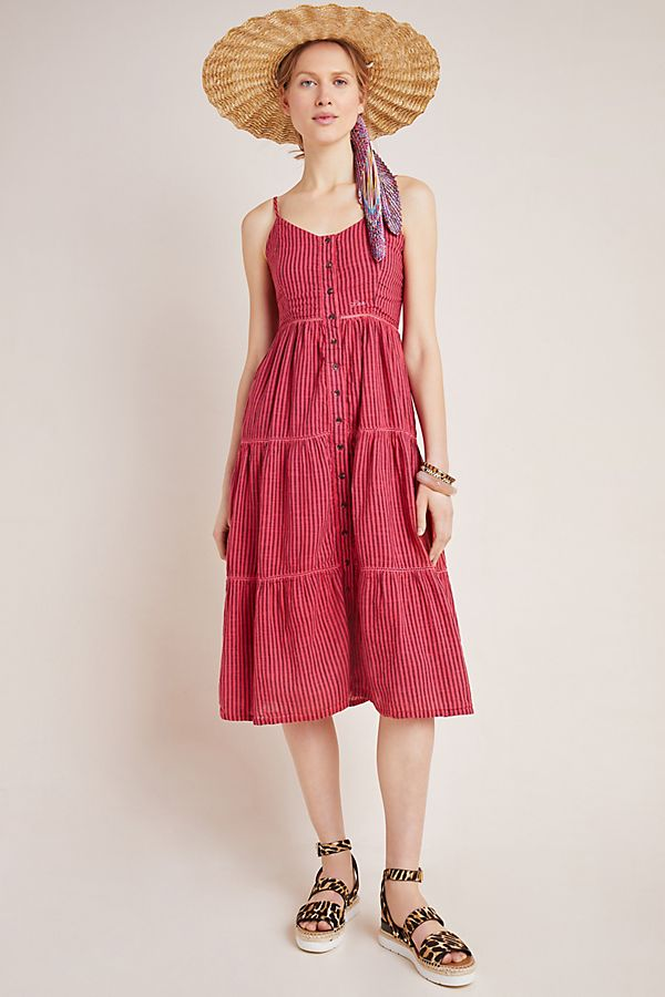 Slide View: 1: Sundry Elena Tiered Midi Dress
