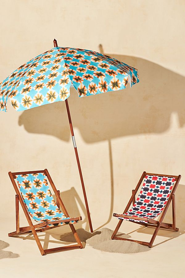 Slide View: 1: Tie-Dyed Beach Chair