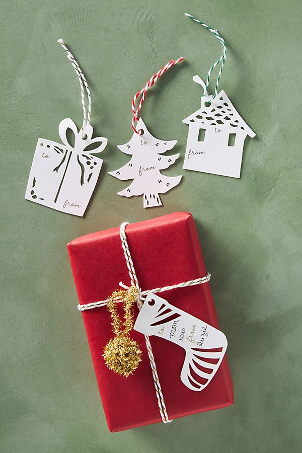 Annie Howe Papercuts Holiday Gift Tags, Set of 12   Anthropologie