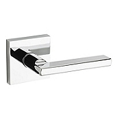 Halifax Door Levers, Polished Chrome 154HFL SQT 26 | Kwikset Door Hardware