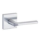 Lisbon Door Levers, Satin Chrome 154LSL SQT 26D | Kwikset Door Hardware