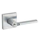 Lisbon Door Levers, Satin Chrome 156LSL SQT 26D SMT | Kwikset Door Hardware