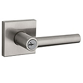 Milan Door Levers, Satin Nickel 156MIL SQT SMT 15 | Kwikset Door Hardware
